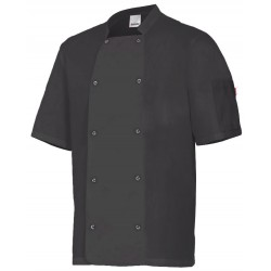 Chaqueta cocinero manga corta con automaticos Serie 405205
