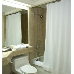 White curtain Bathroom 100% Polyester