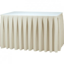 Skirt pleated table tissue aura