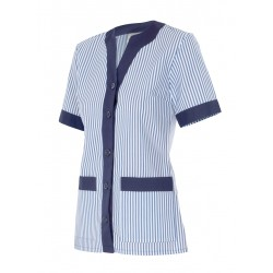 Jacket semi fitted striped short sleeve Series 579