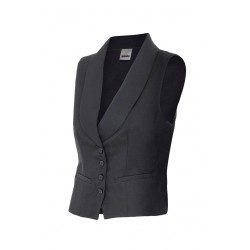 Vest waitress with neck tuxedo Series 417