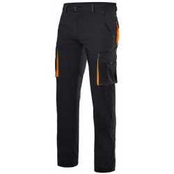 Pant stretch two-tone multibolsillos Series 103008S