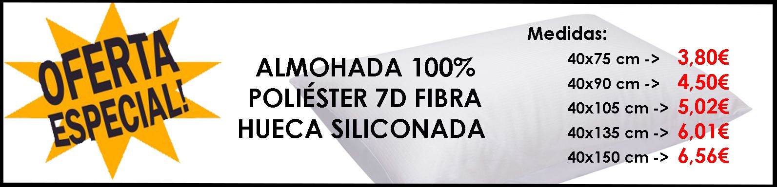 Oferta Almohada Microfibra